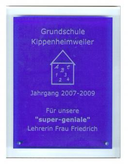 Acrylglas - Trophäe - Blue Angular Award, incl. Gravur