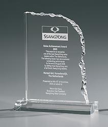 Acryl-Trophäe - Cracked Edge Award incl. Gravur