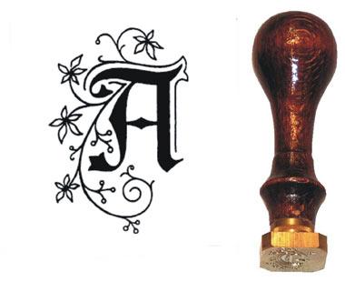 Siegelpetschaft Buchstaben Gotisch